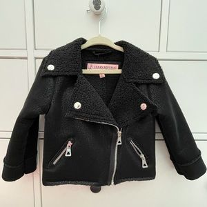 SOLD - Faux leather toddler motorcycle jacket